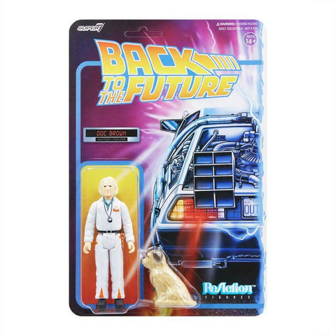 Doc Brown Einstein Back to the Future Super 7 Reaction Figure