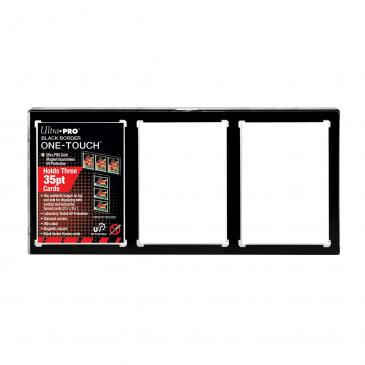 35PT 3-Card Black Border UV ONE-TOUCH Magnetic Holder