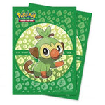 Sword and Shield Galar Starters Grookey Deck Protector sleeve 65ct for Pokémon