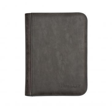 Suede Collection Zippered 4-Pocket Premium PRO-Binder - Jet