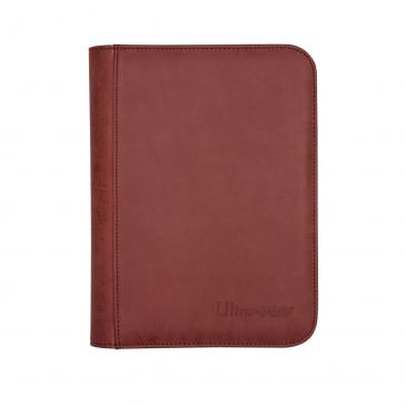 Suede Collection Zippered 4-Pocket Premium PRO-Binder - Ruby