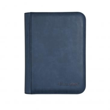 Suede Collection Zippered 4-Pocket Premium PRO-Binder - Sapphire