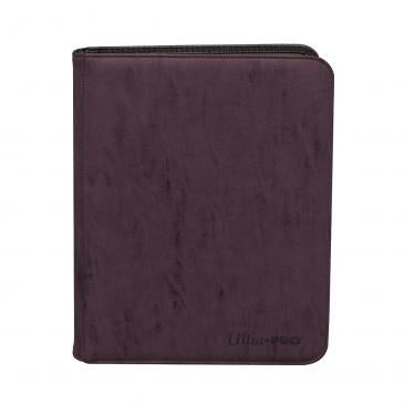 Suede Collection Zippered 9-Pocket Premium PRO-Binder - Amethyst