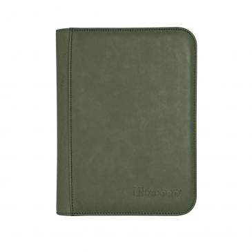 Suede Collection Zippered 4-Pocket Premium PRO-Binder - Emerald