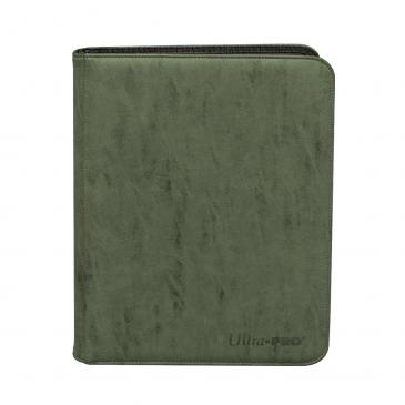 Suede Collection Zippered 9-Pocket Premium PRO-Binder - Emerald