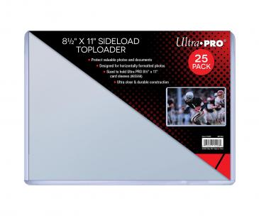 "8-1/2"" X 11"" Side Load Toploader 25ct (sized to fit 8-1/2 x 11 card sleeves)"
