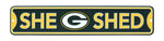 Green Bay Packers She Shed Sign 16x3