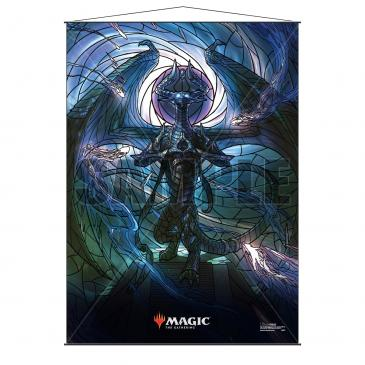 Stained Glass Planeswalkers Wall Scroll Nicol Bolas for Magic