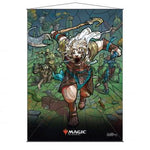 Stained Glass Planeswalkers Wall Scroll Ajani for Magic