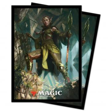 Zendikar Rising Nissa of Shadowed Boughs Standard Deck Protector sleeves 100ct for Magic: The Gathering