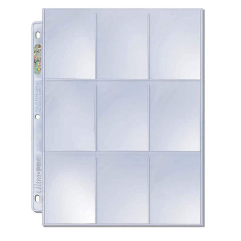 9-Pocket Platinum Series Page for Standard Size Cards, AMZ Bundle 50-count pack