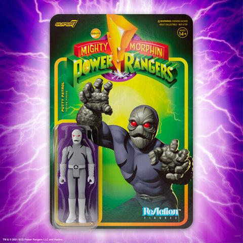 Putty Patrol Mighty Morphin Power Rangers Super 7 Reaction Figure