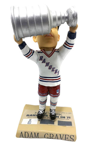 New York Rangers Adam Graves Bobblehead Kollectico S.C. Champs