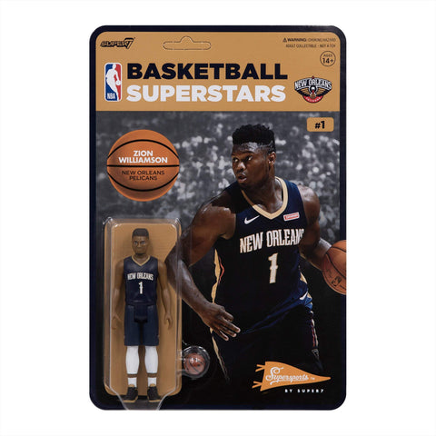 Zion Williamson Pelicans Super 7 Reaction Figure