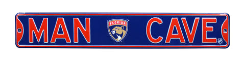 Florida Panthers Steel Street Sign with Logo-MAN CAVE