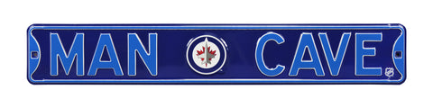 Winnipeg Jets Steel Street Sign with Logo-MAN CAVE
