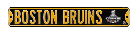 Boston Bruins Steel Street Sign with Logo-2011 SC Champions