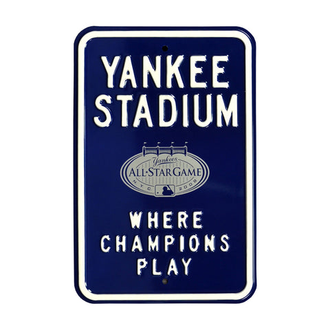 New York Yankees Steel Parking Sign-YANKEE STADIUM PARKING w/2008 AS logo