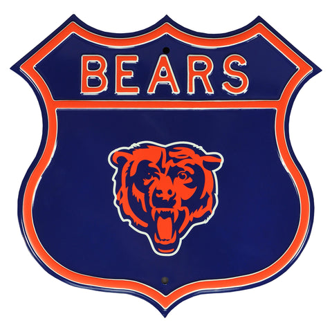 Chicago Bears Steel Route Sign
