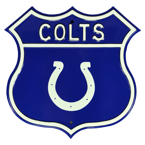 Indianapolis Colts Steel Route Sign