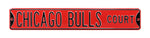Chicago Bulls Steel Street Sign-CHICAGO BULLS CT