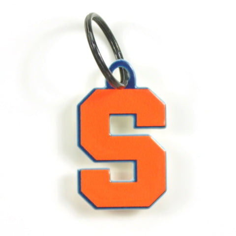 Syracuse Orange Laser Cut Logo Steel Key Ring-S 'Cuse