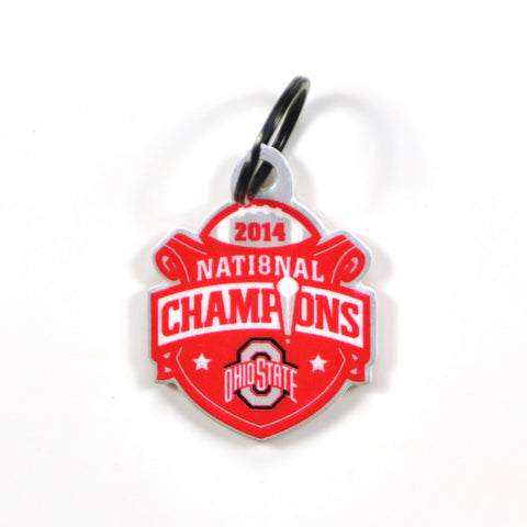 Ohio State Buckeyes Laser Cut Logo Steel Key Ring-2014 Champs