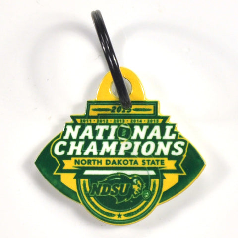 North Dakota State Laser Cut Logo Steel Key Ring-2015 Champs