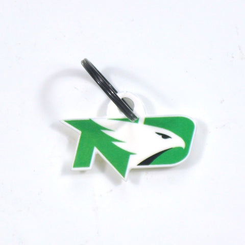 North Dakota Laser Cut Logo Steel Key Ring-Fighting Hawks
