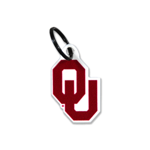 Oklahoma Sooners Laser Cut Logo Steel Key Ring-Primary Logo