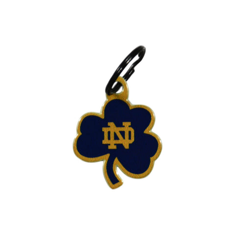 Notre Dame Laser Cut Logo Steel Key Ring-Shamrock