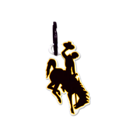 Wyoming Cowboys Laser Cut Logo Steel Key Ring-Bucking Horse