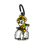 Wyoming Cowboys Laser Cut Logo Steel Key Ring-Pistol Pete