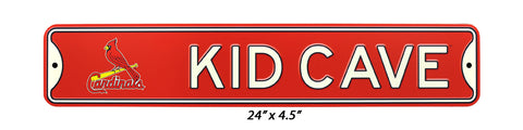 "St Louis Cardinals 24 ""Steel Kid Cave Sign"