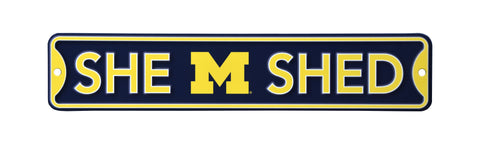Michigan Wolverines  Steel She Shed Sign