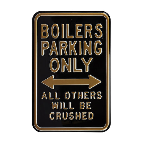 Purdue Boilermakers Steel Parking Sign-All Others Crushed