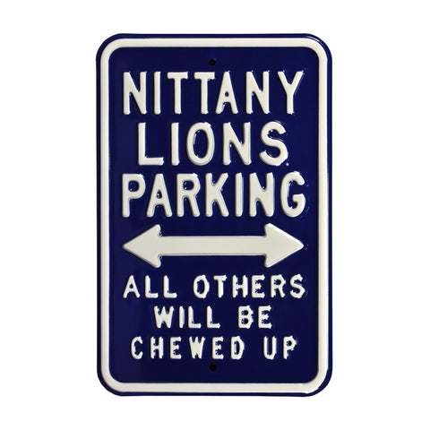 Penn State Nittany Lions Steel Parking Sign-Chewed Up