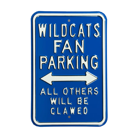 Kentucky Wildcats Steel Parking Sign-All Others Clawed