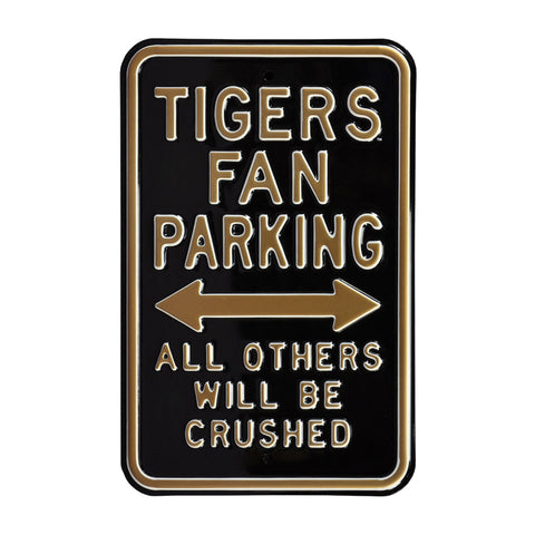 Missouri Tigers Steel Parking Sign-All Others Crushed