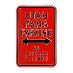 Utah Utes Steel Parking Sign-No Cougars