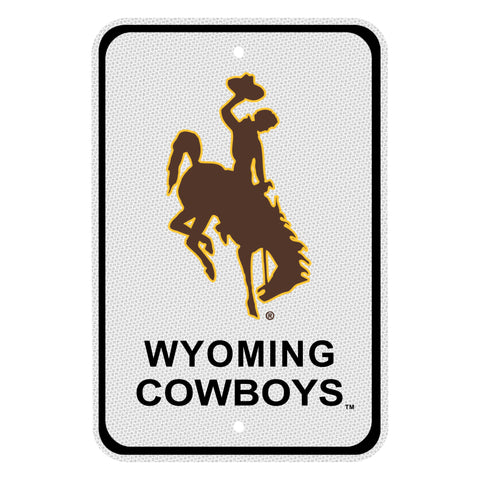 Wyoming Cowboys  Reflective Aluminum Parking Sign