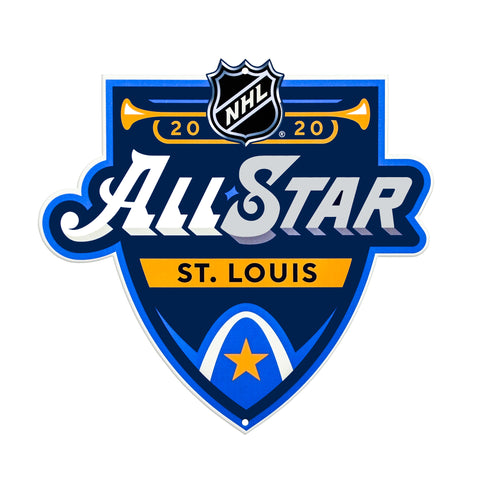 St Louis Blues Laser Cut Steel Logo Spirit Size-2020 All Star Game