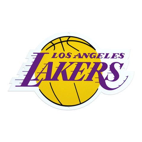 Los Angeles Lakers Laser Cut Steel Logo Statement Size-Primary Logo