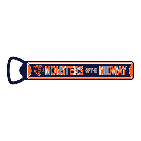 "Chicago Bears Steel Bottle Opener 7"" Magnet-MONSTERS OF THE MIDWAY"