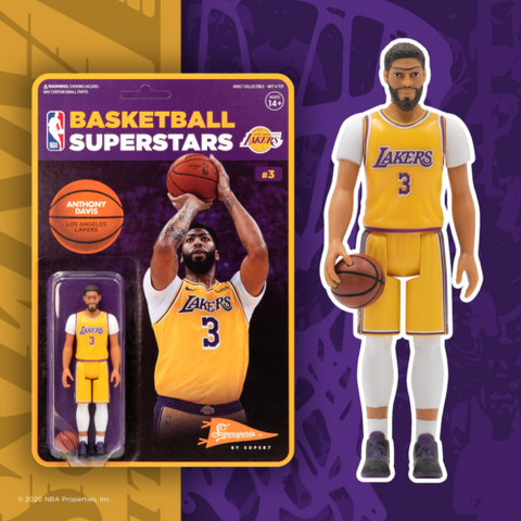 Anthony Davis Los Angeles Lakers Super 7 Reaction Figure
