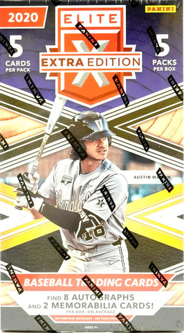 2020 Panini Elite Extra Edition Baseball HOBBY box (5 pks/bx)