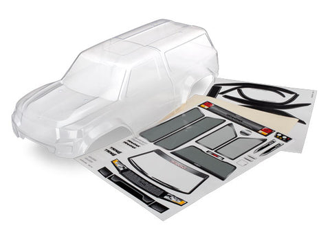 Body with camper, TRX-4¨ Sport (clear, trimmed, requires painting)/ window masks/ decal sheet