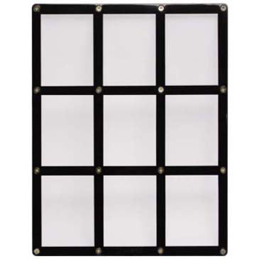 9-Card Black Frame Screwdown Holder