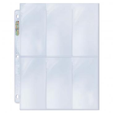 "6-Pocket Platinum Page with 2-1/2"" X 5-1/4"" Pockets"