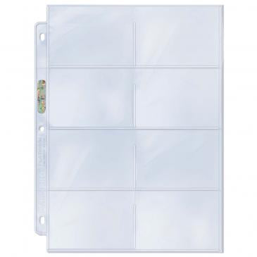 "8-Pocket Platinum Page with 3-1/2"" X 2-3/4"" Pockets"